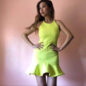 Shakuhachi Neon Neoprene Dress